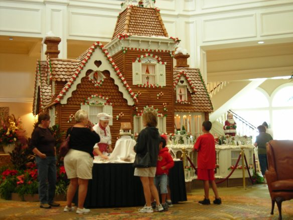 Gingerbread house at the Grand Floridian, 2006