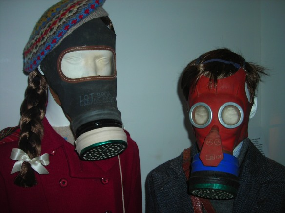 Mickey Mouse Gas Mask (right), Imperial War Museum