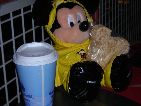 Pal Mickey's got his rain slicker on...the weather doesn't look too good.