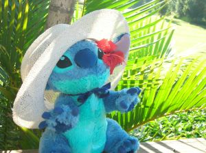 Stitch visiting the garden isle of Maui...