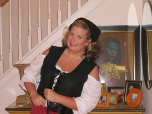 Yo ho, a pirate's life for Lisa!