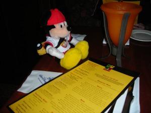 Pal Mickey loves a good steak!