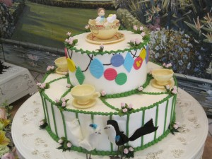 Mad Tea Party Wedding Cake