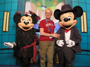 Jennifer with Mickey and Minnie