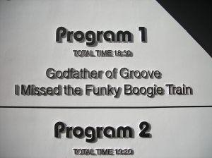 Program 1: Godfather of Groove, I Missed the Funky Boogie Train