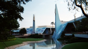 The entrance to Tomorrowland at Tokyo Disneyland, 2002