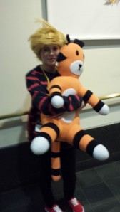 Calvin and Hobbes at Anime Boston 2014