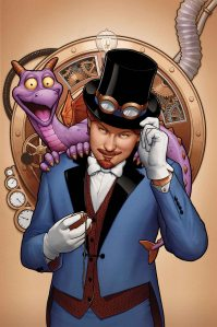 Figment and Dreamfinder on comic book cover