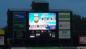 Scoreboard at Princess Night, Burlington Lake Monsters