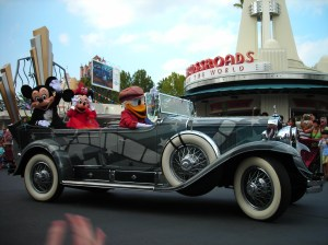 Mickey's car, from the Stars and Motor Cars parade